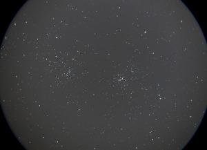 カシオペア座ちかくの二重星団