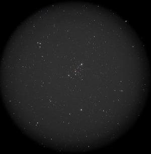 小型の散開星団M103はいい感じです